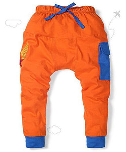 Kids Parachute Pants Star Embroidery