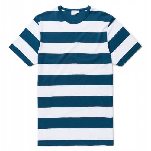 Mens Long-Staple Cotton T-Shirt with Stripe