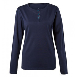 Womens Pima Cotton Henley T-Shirt