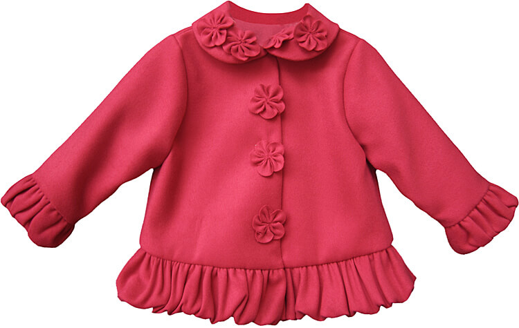 Girls Toddler Ruffled Jacket