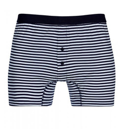 Mens Cotton Two-Button Short with Stripe