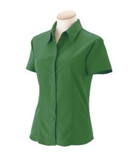 Womens Textured Camp Shirt