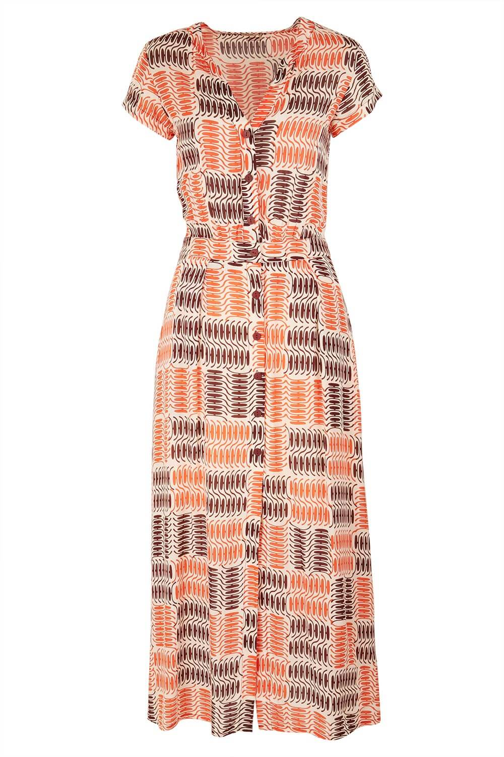 Womens Retro Printed Maxi Dress