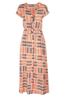 Womens Retro Printed Maxi Dress