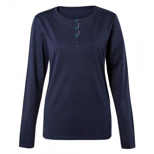 Womens Cotton Henley T-Shirt