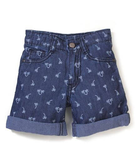 Kids Printed Turn-Up Shorts