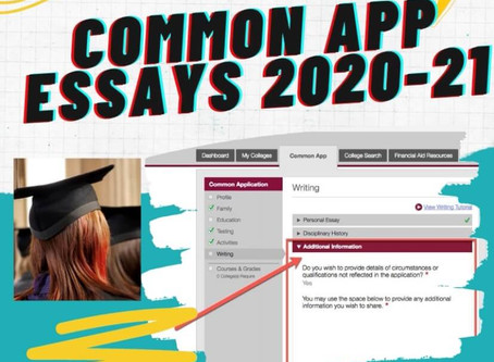 How to write Common App Essays 2020-21