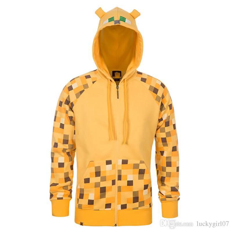Boys Printed Yellow Hoodie