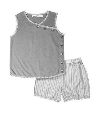 Kids Sleeveless Top And Shorts Set