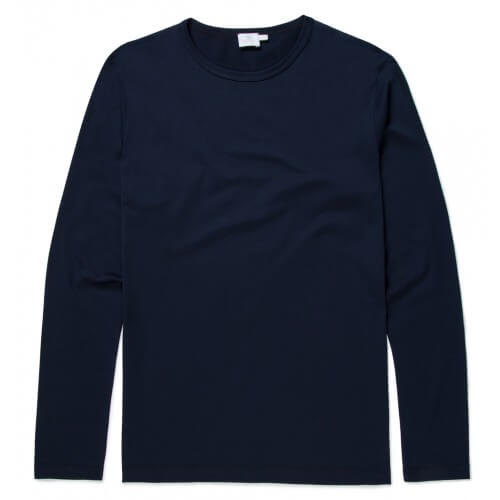 Mens Long-Staple Cotton Long Sleeve T-Shirt