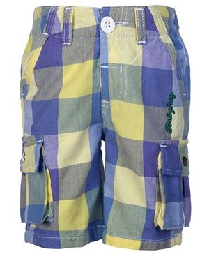 Kids Checked Jamaican Shorts