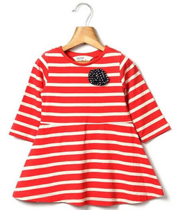 Kids Striper Jersey Dress
