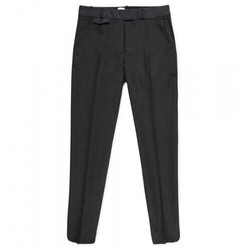 Womens Wool Straight Leg Trouser