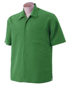 Mens Textured Camp Shirt