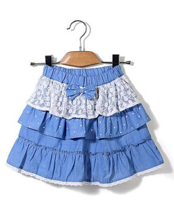 Kids Tiered Skirt Bow Applique