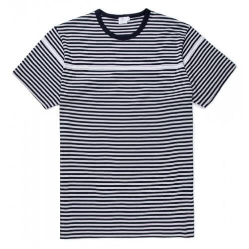 Mens Long-Staple Cotton T-Shirt With Placement Stripe