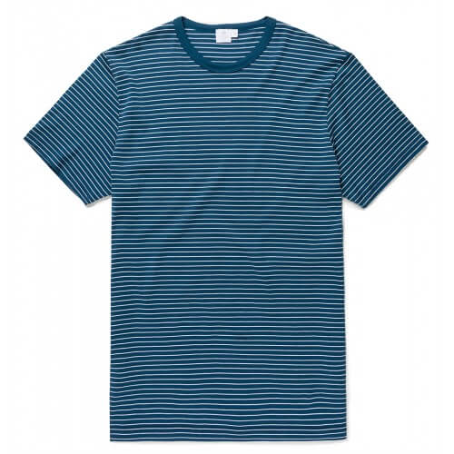 Mens Long-Staple Cotton T-Shirt with Classic Stripe