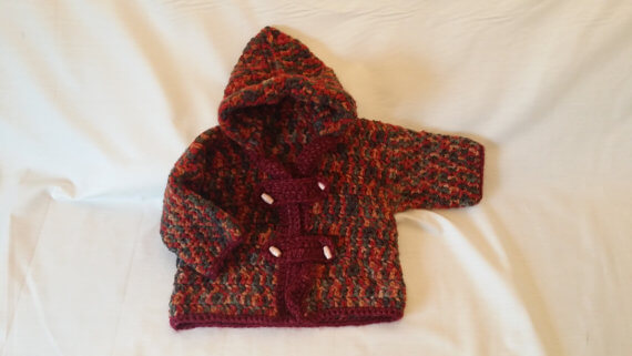 Boys Crochet Winter Hooded Jacket