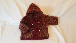 Boys Crochet Winter Hooded Jacket