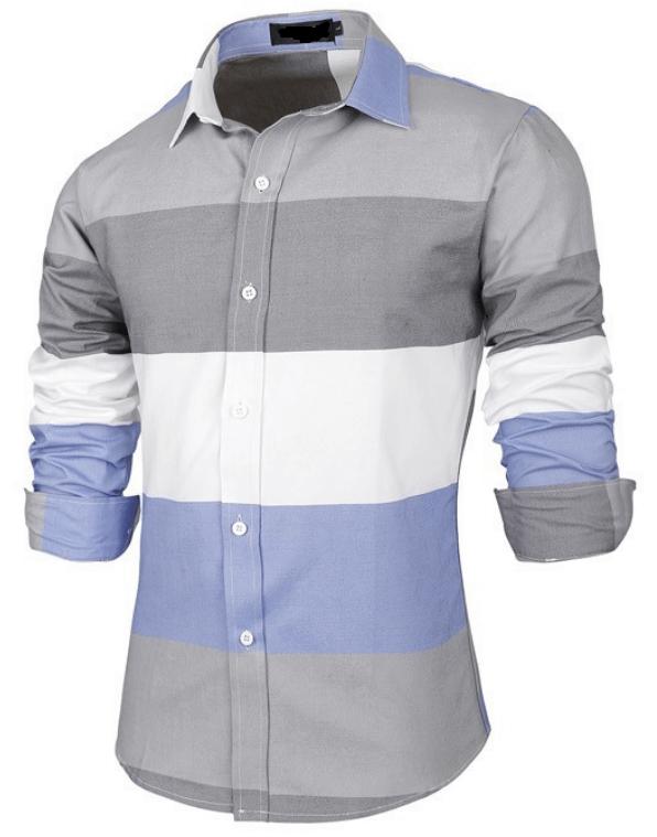 Mens Cotton Stripe Shirt