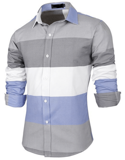 Mens Cotton Stripe Shirt