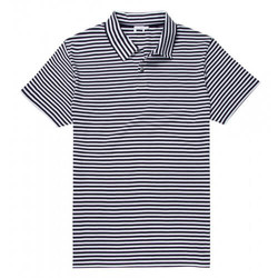 Mens Jersey Polo Shirt with English Stripe
