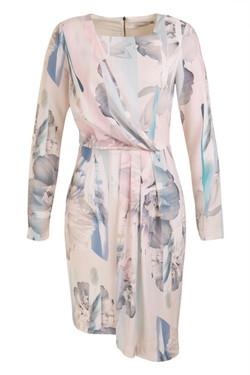 Womens Long Sleeve Printed Dress