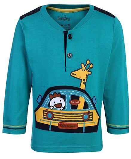 Kids Full Sleeves T-Shirt Printed