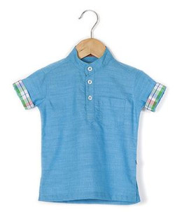 Kids Half Sleeve Kurta Style Shirt