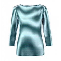 Womens Long-Staple Cotton Boat Neck T-Shirt