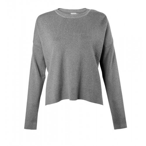 Womens Cotton and Cashmere Dropped Hem Jumper