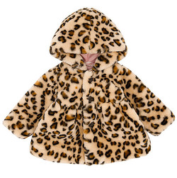 Girls Hooded Leopard Print Jacket