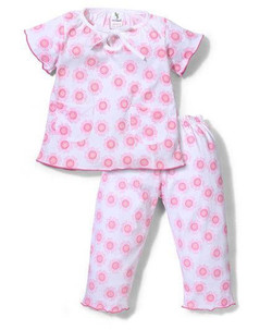 Kids Half Sleeves Night Suit Print
