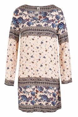 Womens V Neck Long Sleeve Tunic Dress