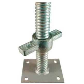 Base Jack Adjustable Solid Galvanised