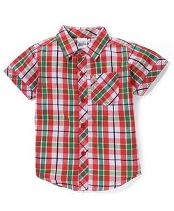 Kids Half Sleeves Check Shirt