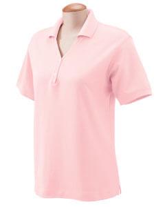 Womens Short Sleeve Y-Collar Polo