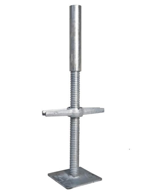 Base Jack Adjustable Solid Galvanised-2