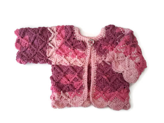 Girls Baby Crochet Wool Sweater