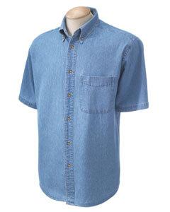 Mens Short Sleeve Denim Shirt