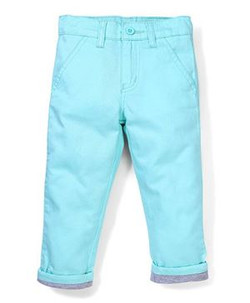 Kids Trouser With Turn Up Bottom