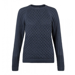 Womens Cable and Rib Sleeve Jumper