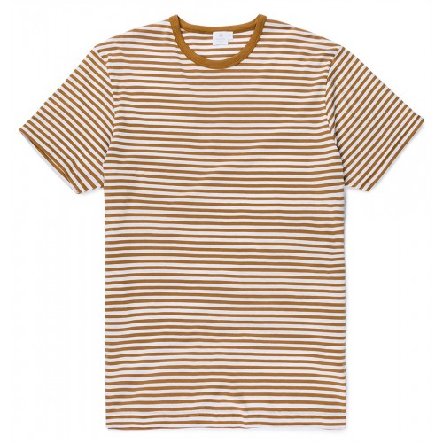 Mens Long-Staple Cotton T-Shirt With English Stripe