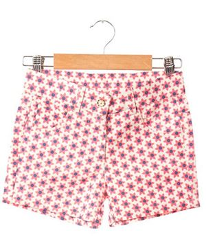 Kids Printed Canvas Shorts