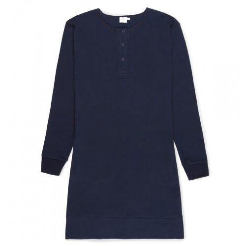 Womens Cotton Henley Dress