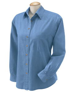 Womens Long Sleeve Denim shirt