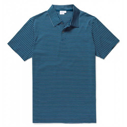 Mens Jersey Polo Shirt with Classic Stripe