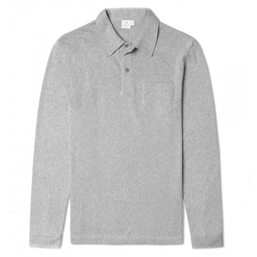 Mens Cotton Long Sleeve Polo Shirt