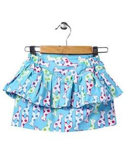 Kids Printed Tiered Skirt