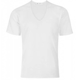 Mens Cotton Low V-Neck Underwear T-Shirt